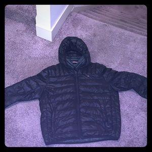 Black Tommy Hilfiger down jacket